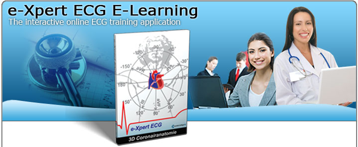 CardioCollege e-Xpert ECG: The interactive online ECG e-learning application.